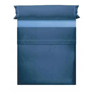 Juego de Sabanas Liso Azul Marino Azul 742