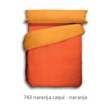 Funda Nordica Lisa Naranja Caqui 743.